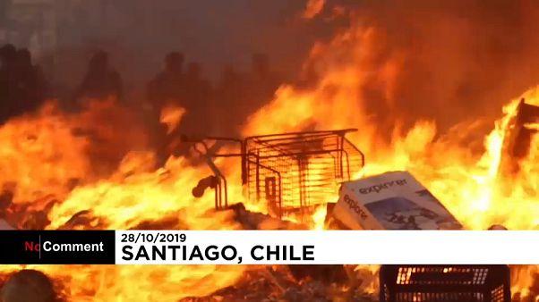 Чили: беспорядки на улицах
