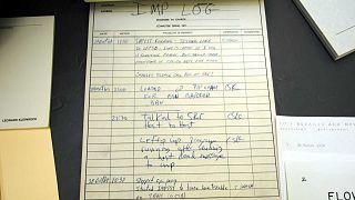 Journal de bord de l'UCLA où est référencé la première connexion entre deux machines