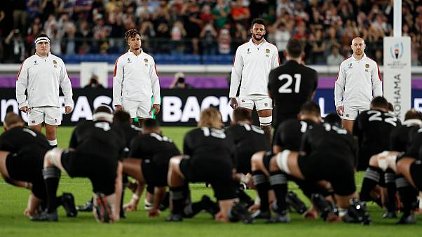Some England players crossed the halfway line during the haka, which broke World Rugby rules.