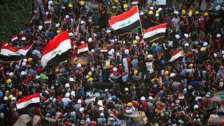 Bağdat'ta hükümet aleyhine gösteriler