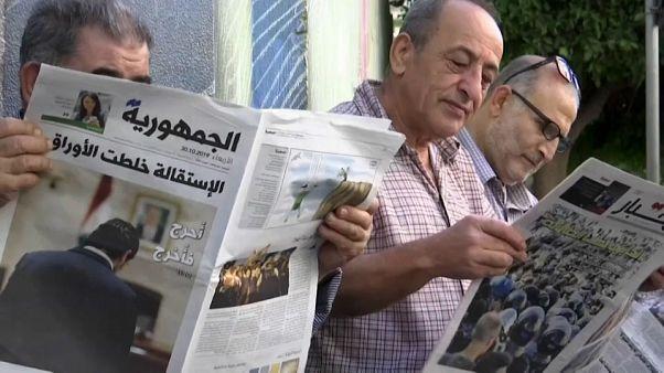 Διαδηλωτές στον Λίβανο: Η πίεση θα συνεχιστεί παρά την παραίτηση Χαρίρι