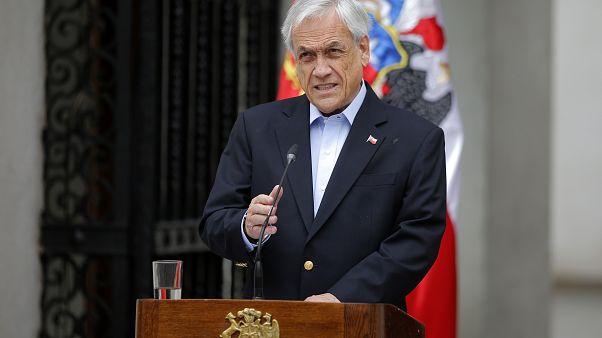 Presidente de Chile Sebastián Piñera el 30 de octubre, 2019.
