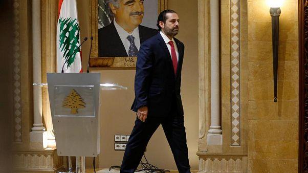 Lübnan Başbakanı Saad el-Hariri istifa ettiğini duyuruyor