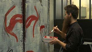Le mur de Berlin version chocolatée