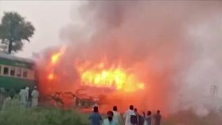 Pakistan : incendie accidentel meurtrier à bord d'un train