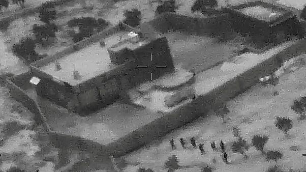 شاهد: الغارة الأمريكية التي استهدفت البغدادي
