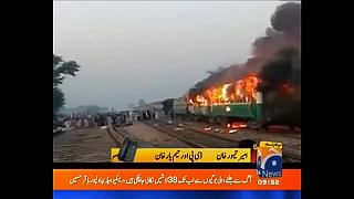Pakistan train fire death toll rises to at least 46