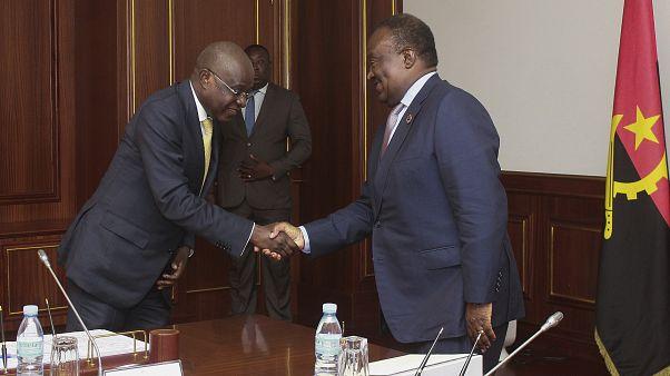 Ministro de Estado e da Economia cumprimenta presidente da Assembleia Nacional