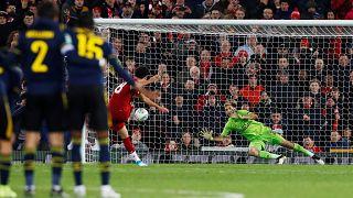Normal süresi ve uzatmaları 5-5 biten maçta Liverpool, Arsenal'ı penaltı atışları sonucu 5-4 yenerek adını çeyrek finale yazdıran taraf oldu