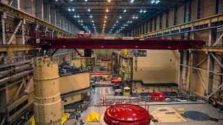 A Paksi Atomerőmű négyes (előtérben) és hármas (háttérben) reaktora 2019. június 25-én.
