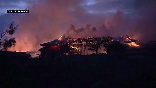 Un incendio destroza el castillo japonés de Shuri