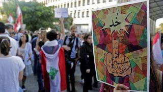 صورة من احتجاجات لبنان بالعاصمة بيروت. 31/10/201