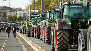 Alman çiftçilerin tarım politikalarına karşı eylemi
