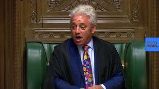 Despedida del presidente de los Comunes John Bercow tras 10 años poniendo ¡Ooordeeen!