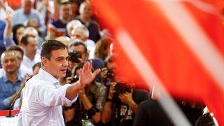 L'actuel Premier ministre espagnol, Pedro Sanchez, a tenu son premier meeting de campagne.
