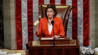 La presidenta de la Cámara de Representantes, Nancy Pelosi