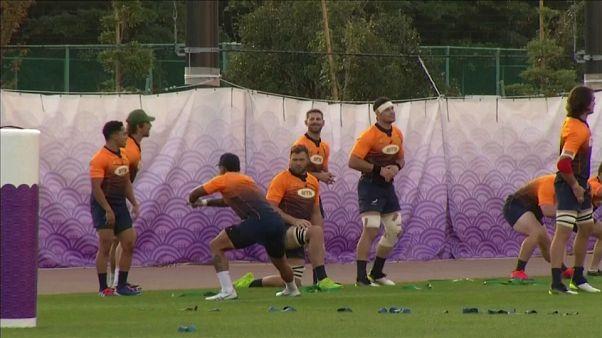 Inglaterra contra Sudáfrica en la final de la Copa del Mundo de rugby