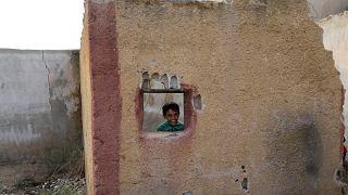 طفل هرب من مخيم عين عيسى في سوريا إلى تل أبيض - 2019/10/29