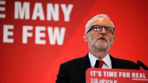 Britain's opposition Labour Party leader Jeremy Corbyn speaks at a launch event for the Labour party's general election campaign in London, Britain October 31, 2019.