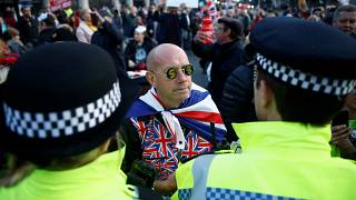 Protesters bemoan Brexit delay as Halloween deadline passes