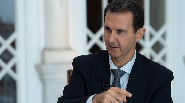 الرئيس السوري بشار الأسد خلال مقابلة مع التلفزيون الرسمي. 30/10/2019