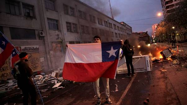 Protest against Chile's government in Concepcion