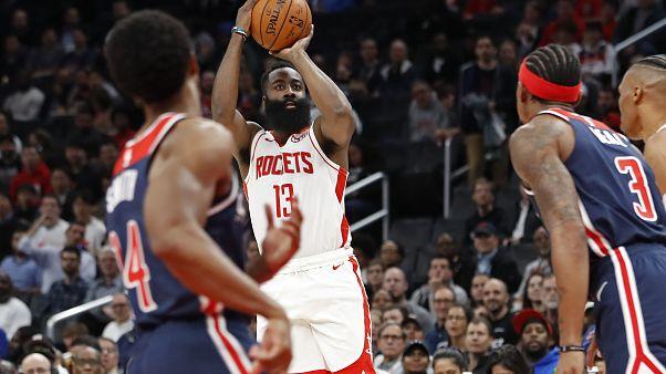 NBA'de yeni rekor: James Harden'dan rakip filelere 59 sayı