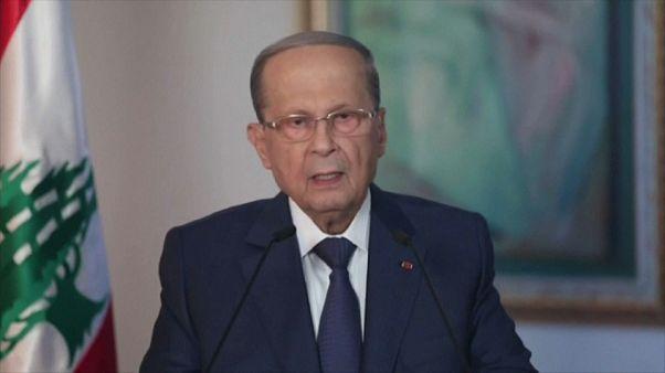 Il Presidente del Libano, Michel Aoun, parla ai cittadini in diretta televisiva.