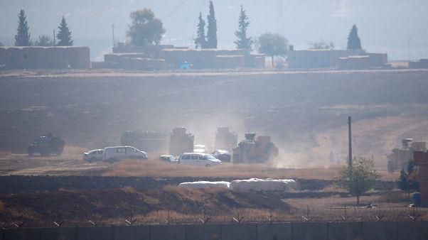 Совместный патруль в районе северной границы Сирии