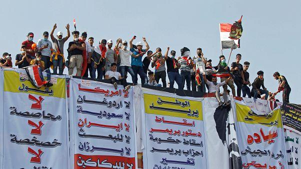 جانب من مظاهرات العراق بالعاصمة بغداد. 31/10/2019