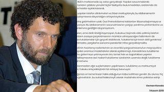 Osman Kavala'dan hapishaneden mektup