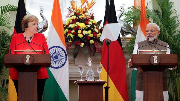 Angela Merkel en Inde pour resserrer les liens