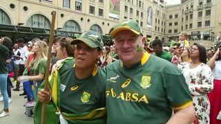 Einsingen für das Endspiel der Rugby-WM