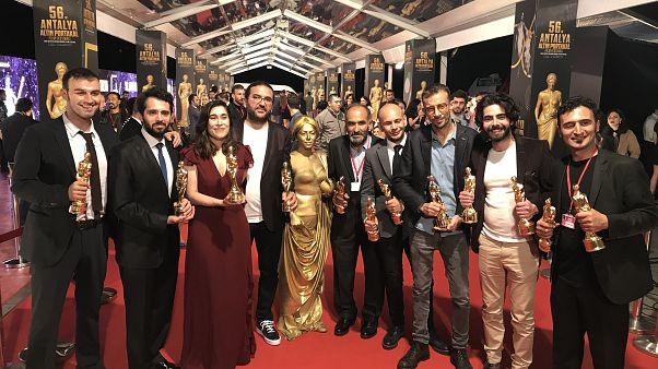 56. Antalya Altın Portakal Film Festivali - Bozkır film ekibi - Anadolu Ajansı