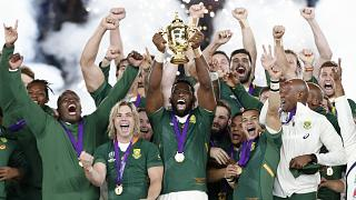 Rugby World Cup - Final - England v South Africa - International Stadium Yokohama, Yokohama, Japan - November 2, 2019 South Africa's Siya Kolisi celebrates with