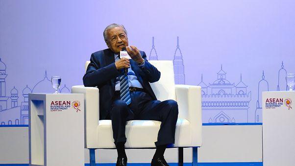 Malezya Başbakanı Mahathir Muhammed, ASEAN zirvesinde ( Bernama - Anadolu Ajansı )