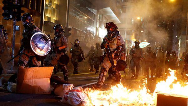 Xinhua offices burned as Hong Kong protests enter 22nd week