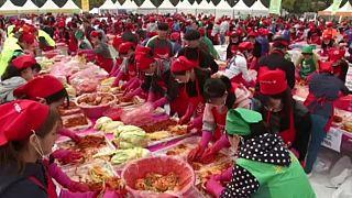 Φεστιβάλ κίμτσι στο κέντρο της Σεούλ
