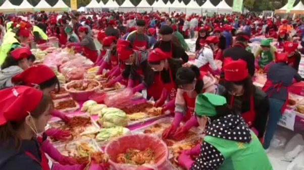 Kimchikészítő fesztivál Dél-Koreában