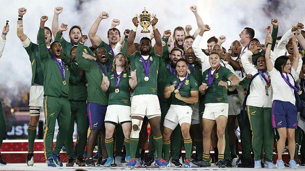 آفریقای جنوبی سومین قهرمانی در جام جهانی راگبی را جشن گرفت