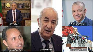 المترشحون الرسميون للانتخابات الرئاسية في الجزائر