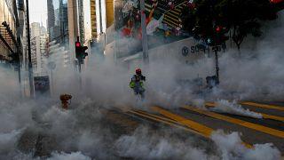 Άλλη μια μέρα έντονων επεισοδίων στο Χονγκ Κονγκ