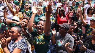 Coupe du monde de Rugby : la liesse en Afrique du Sud