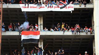 متظاهرون عراقيون في بغداد