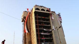 """بناية """"المطعم التركي"""" في وسط بغداد"""