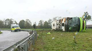 France : 33 blessés, dont 4 graves, dans un accident de bus