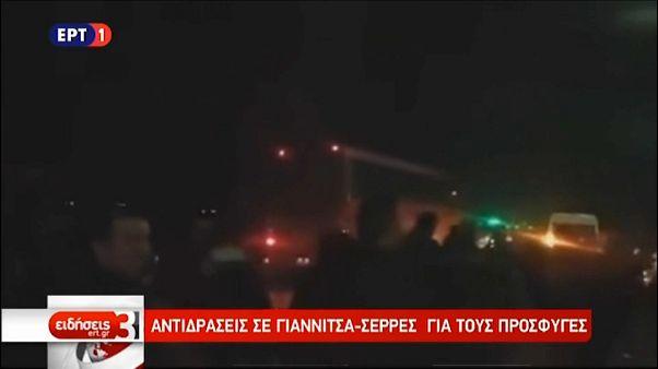 Griechenland: Anwohner blockieren Migrantenbus