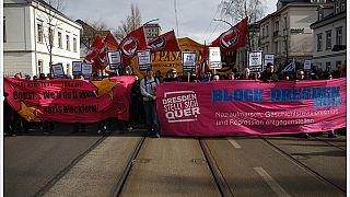 Dresden'de 2012 yılında düzenlenen Nazi karşıtı bir eylem