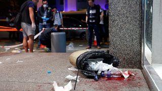 حادث هجوم بسكين في هونغ كونغ