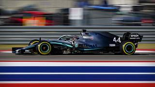Lewis Hamilton (44) of Great Britain during qualifying for the United States Grand Prix at Circuit of the Americas.